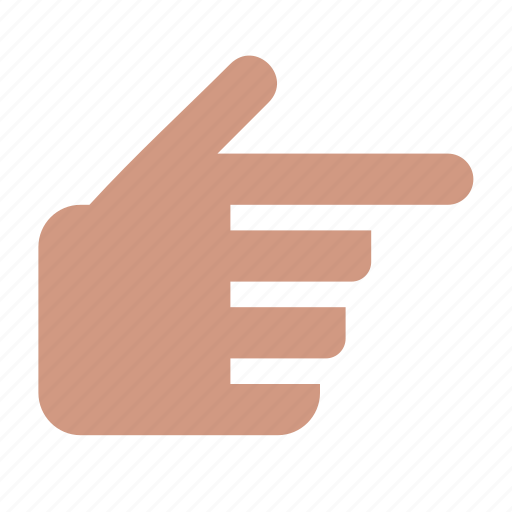 direction, finger, forefinger, gesture, hand, right icon