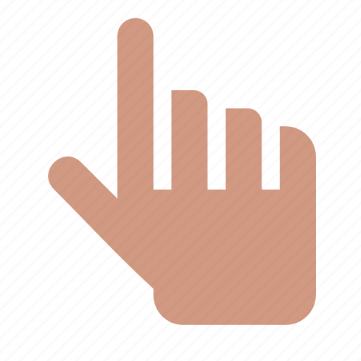 direction, finger, forefinger, gesture, hand, up icon