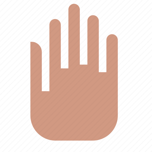 fingers, gesture, hand, stop icon