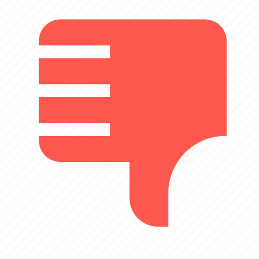 dislike, gesture, hand, no, vote, vote no icon
