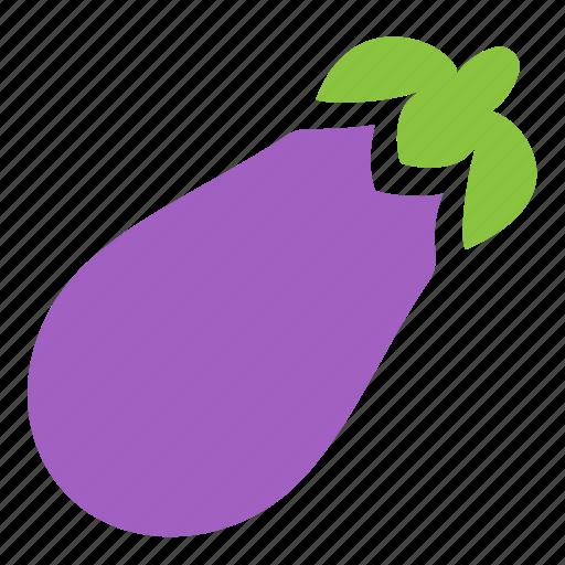 eggplant, food, healthy, icojam, vegetable icon