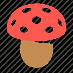 amanita, mushroom, poison, vegetable icon