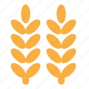 eco, nature, plant, wheat icon