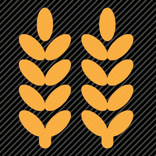 eco, nature, plant, wheat icon