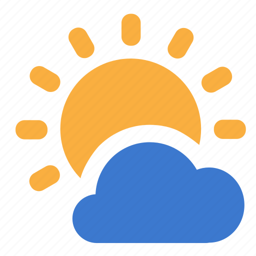 cloud, cloudy, day, forecast, sunny, weather icon
