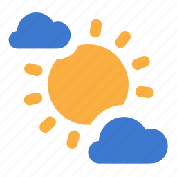cloudy, day, forecast, partly, weather icon