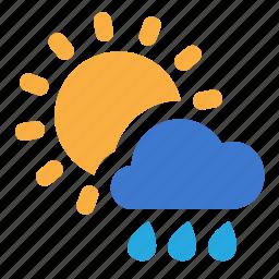 cloud, day, rain, sunny icon