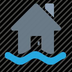 disaster, flood, forecast, weather icon