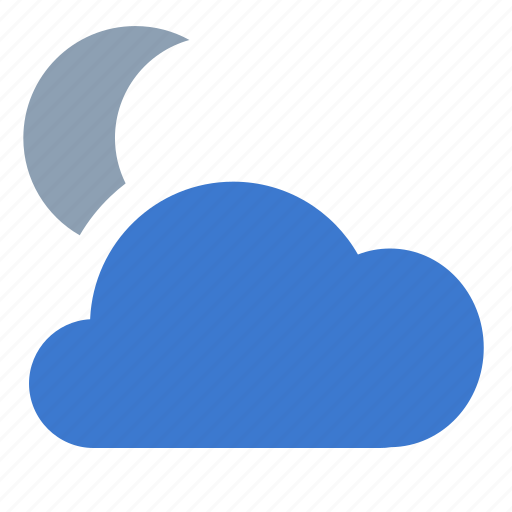 clouds, forecast, lot, moon, night, weather icon