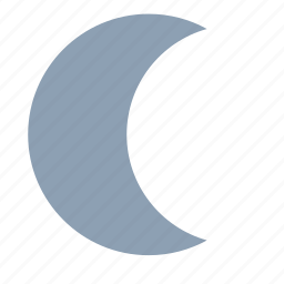 crescent moon, forecast, moon, night, weather icon