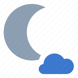 cloudy, forecast, night, partly, weather icon