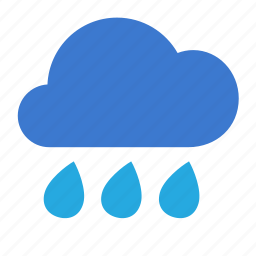 cloud, forecast, heavy, rain, weather icon