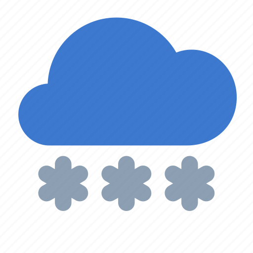 cloud, forecast, heavy, snow, weather icon