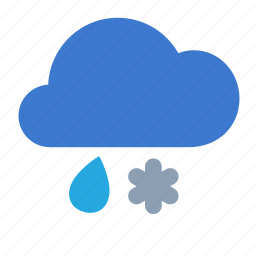 cloud, forecast, rain, snow, weather icon