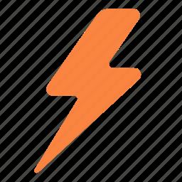 forecast, lightning, thunder, weather icon