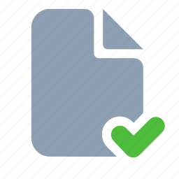 check, document, page, paper icon