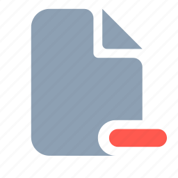 document, page, paper, remove icon