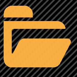 data, files, folder, open icon