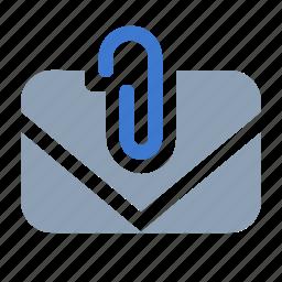 attach, inbox, mail, post icon