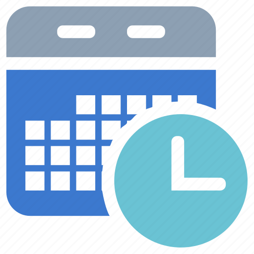 calendar, clock, plan, schedule icon
