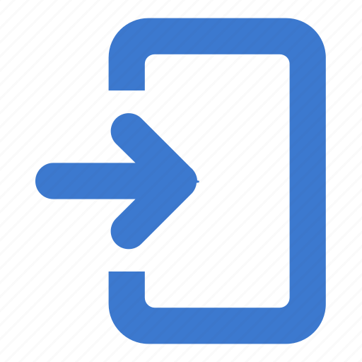 enter, import, in, inside icon
