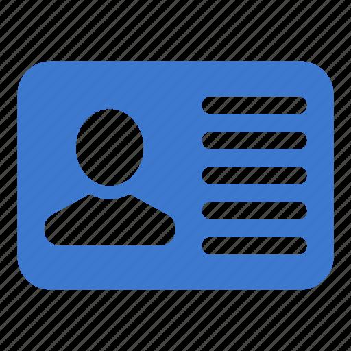 card, profile, user, vacancy icon