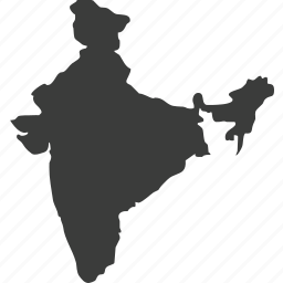 asia, countries, country, india, location, map icon