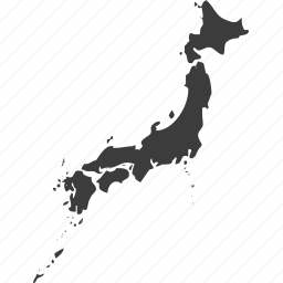 asia, countries, country, japan, location, map icon