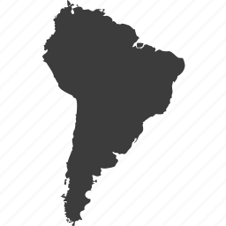 america, continent, continents, countries, location, map, south america icon