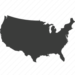 countries, country, location, map, usa icon