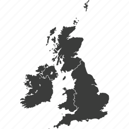 countries, country, europe, great britain, location, map, united kingdom icon
