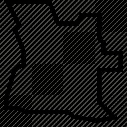 angola, map icon