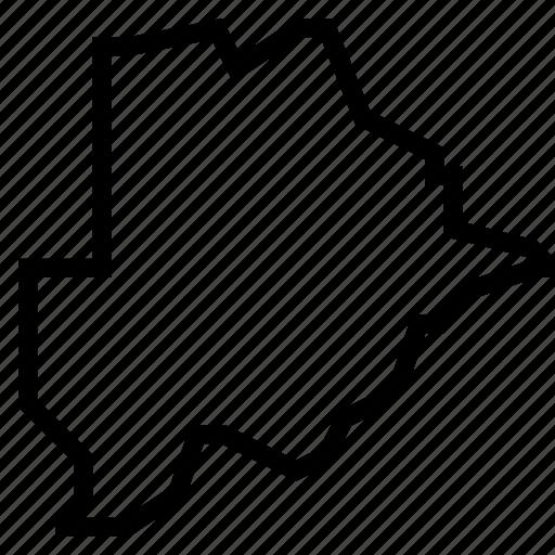 botswana, map icon