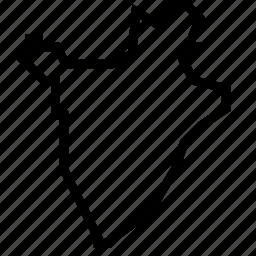 burundi, map icon