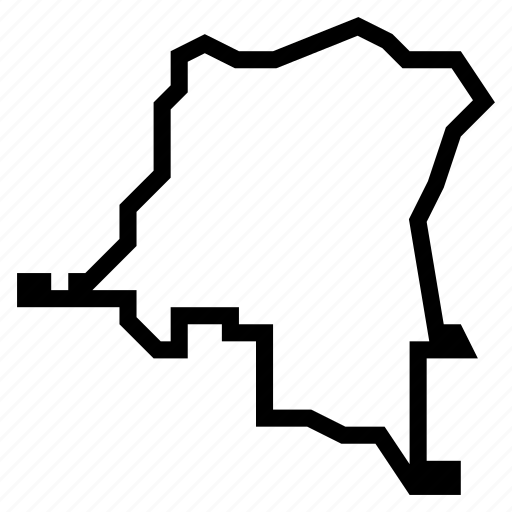 congo, dr, map icon