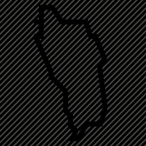 dominica, map icon