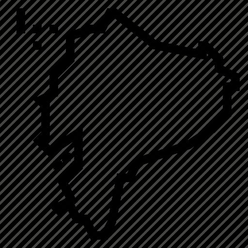 ecuador, map icon