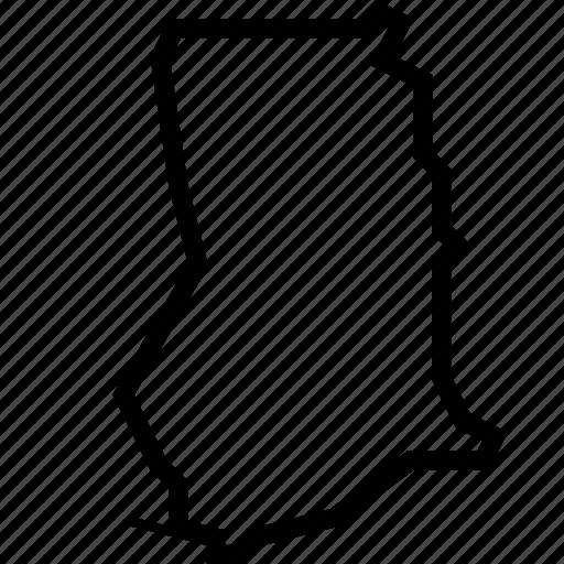 ghana, map icon