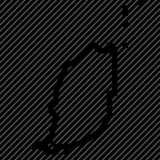 grenada, map icon