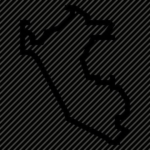 map, peru icon