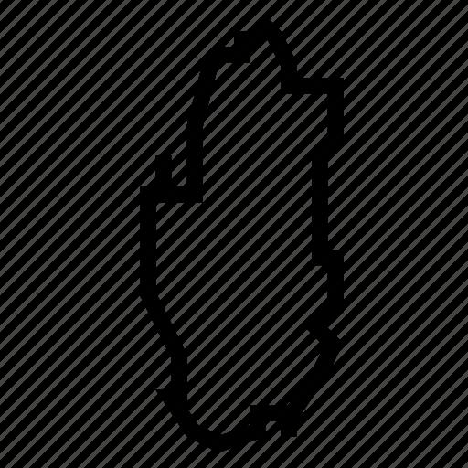 map, qatar icon