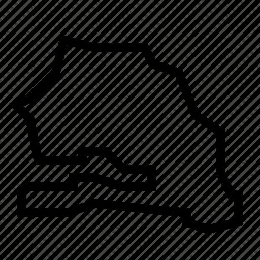 map, senegal icon