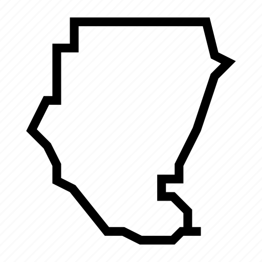 map, sudan icon