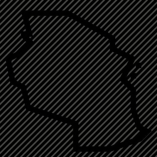 map, tanzania icon
