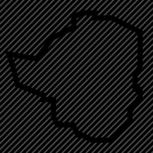 map, zimbabwe icon