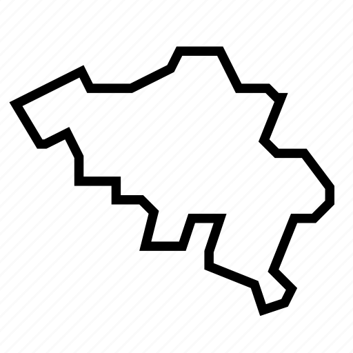 belgium, map icon
