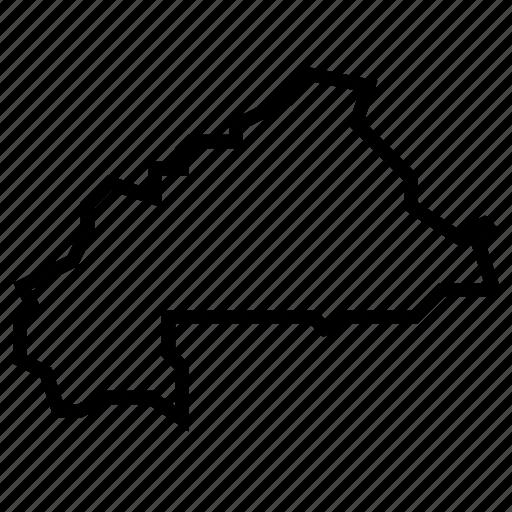 burkina, faso, map icon