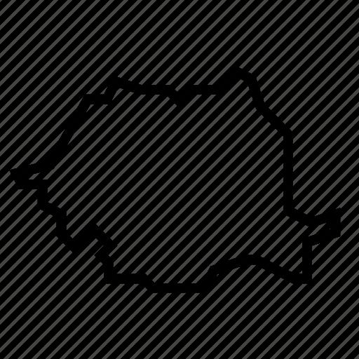 map, romania icon
