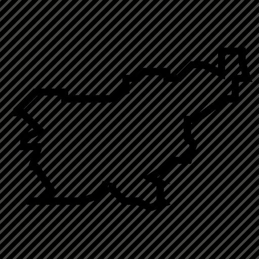 map, slovenia icon