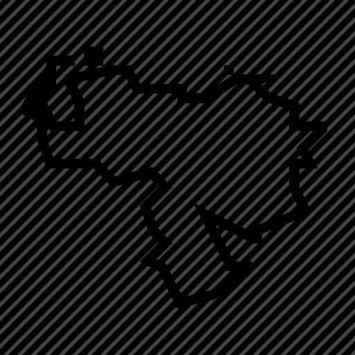 map, venezuela icon
